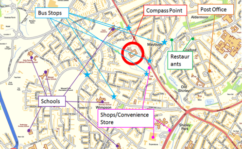 Compass Point Accessibility Map