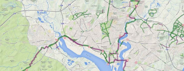 Sustrans Cycle Route Map