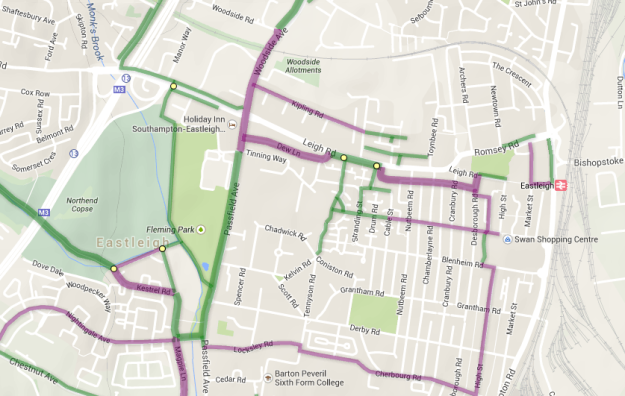 Sustrans Eastleigh Map