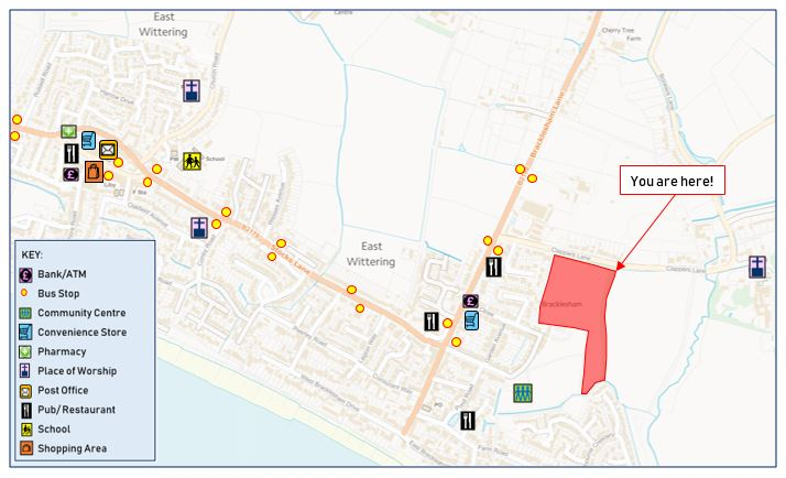 bracklesham accessibility map